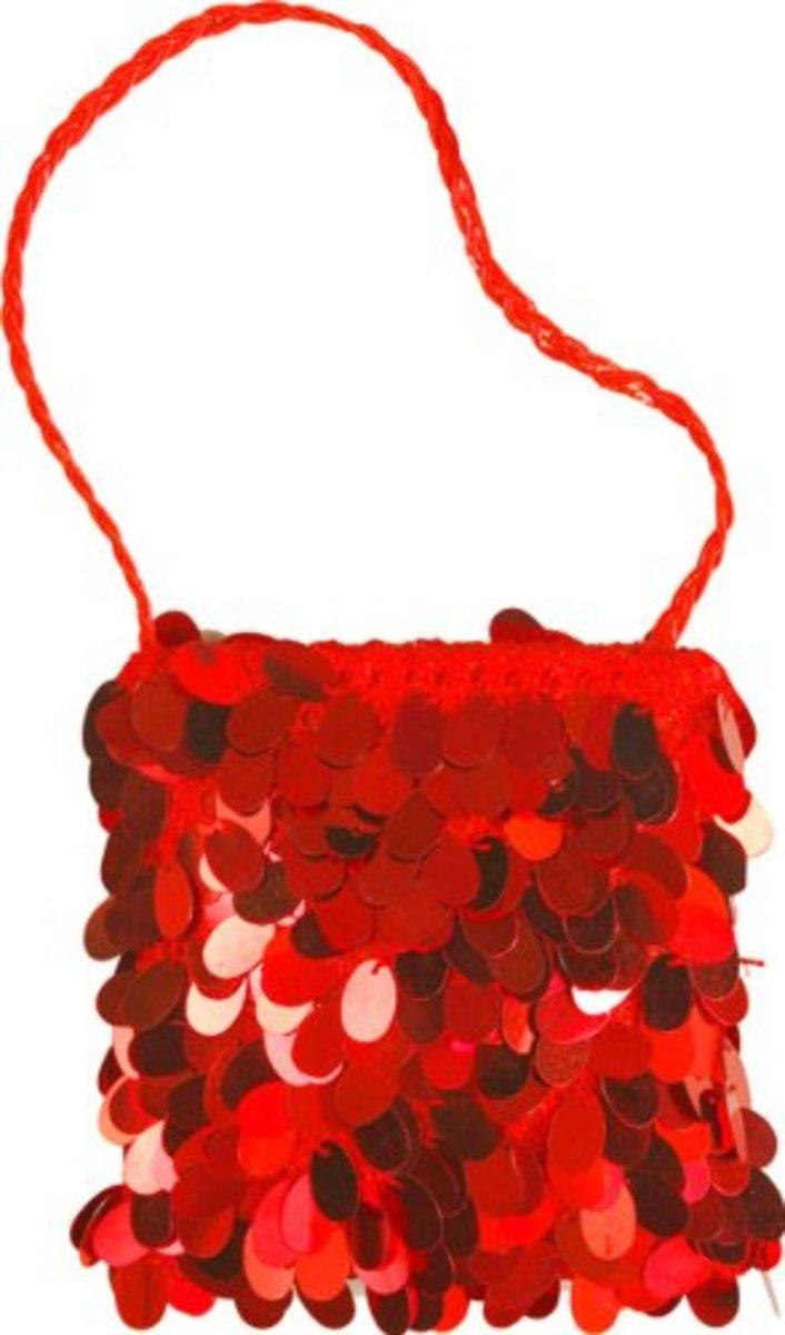 Modern costume version of a 20s style flapper handbag