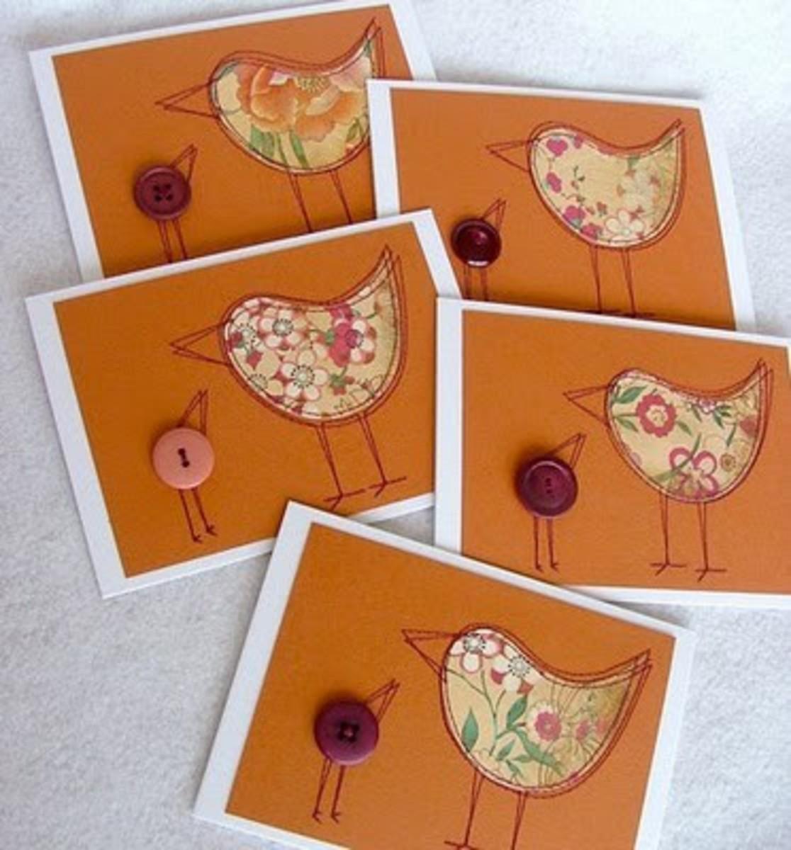 button greeting cards ideas for handmade homemade card