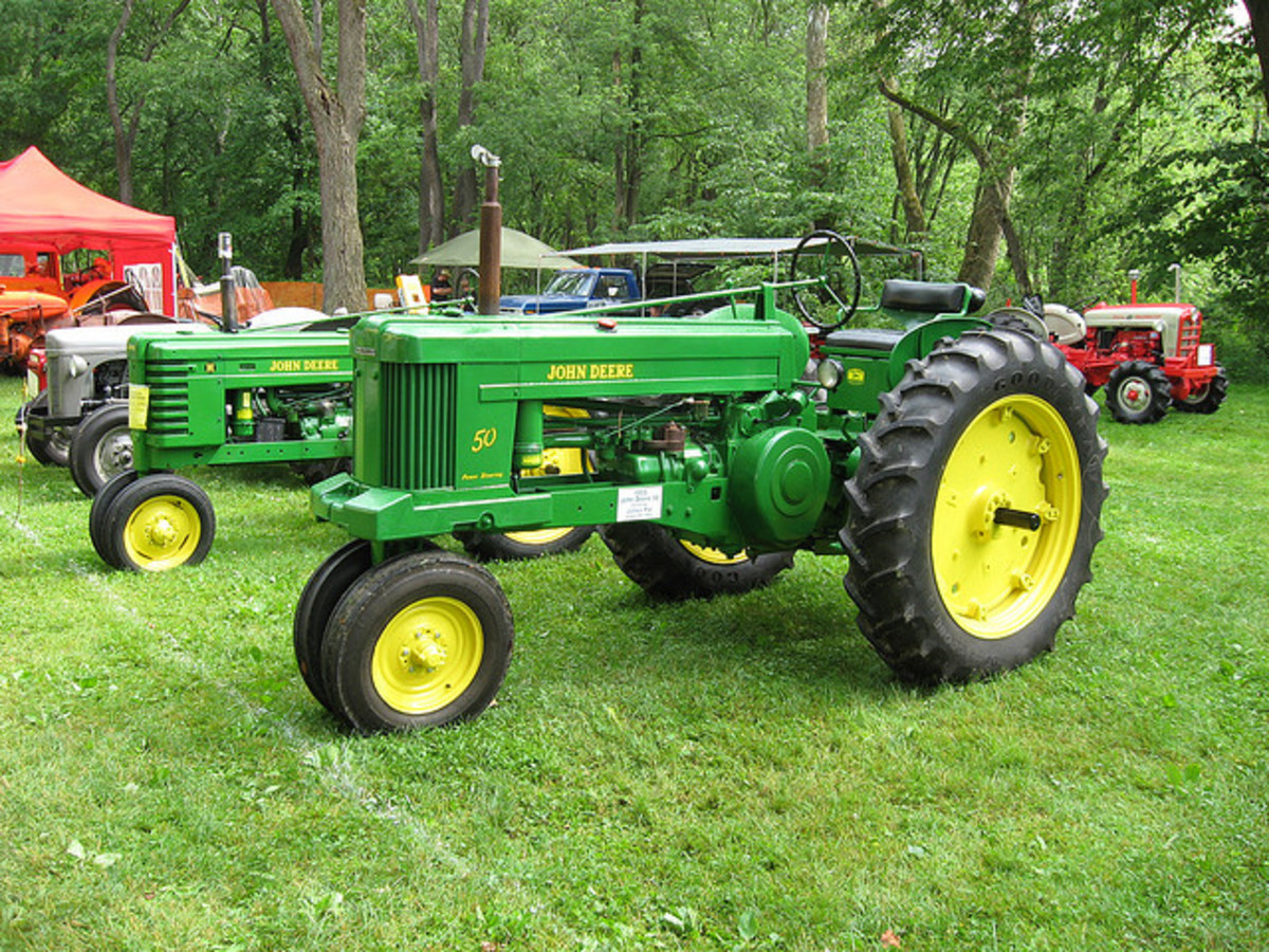 This is the type of tractor I drove on the farm growing up.