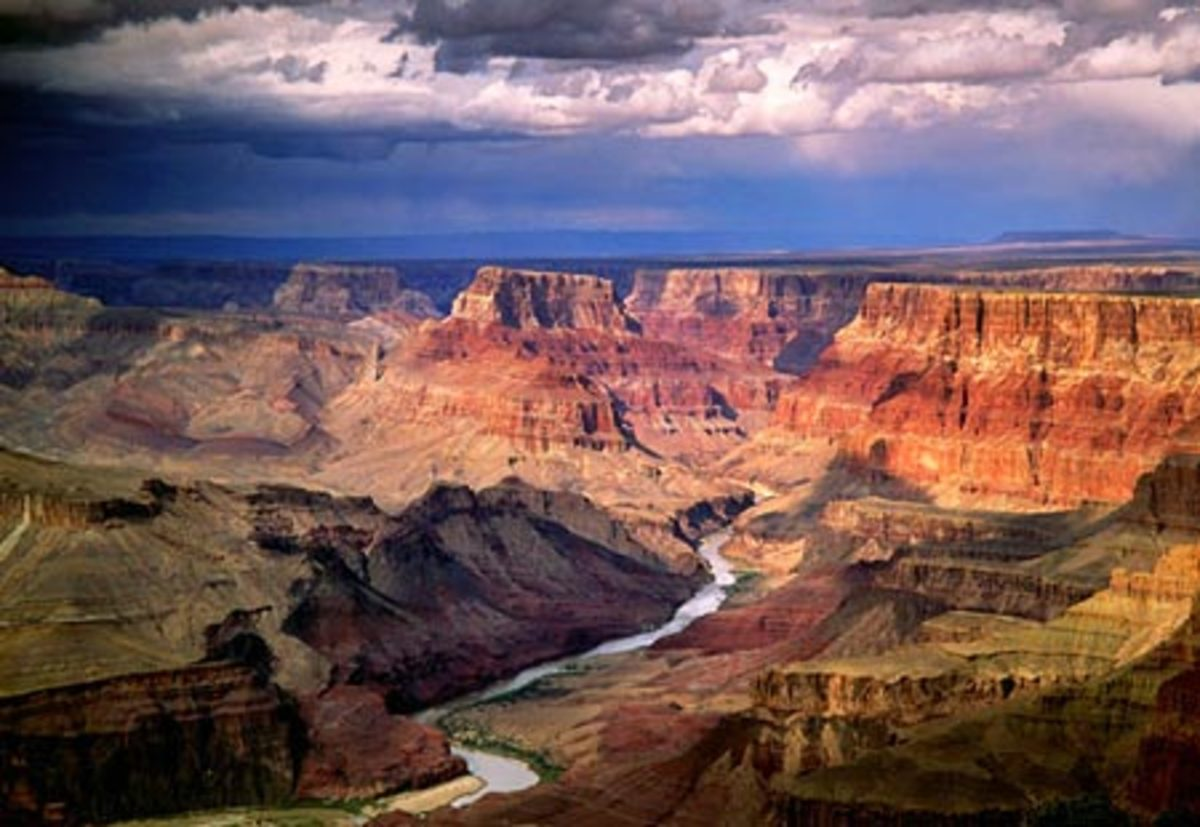 The view of the beautiful Grand Canyon. It is the most visited place in Arizona.