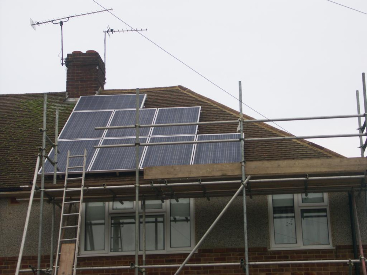 During installation of residential solar panels