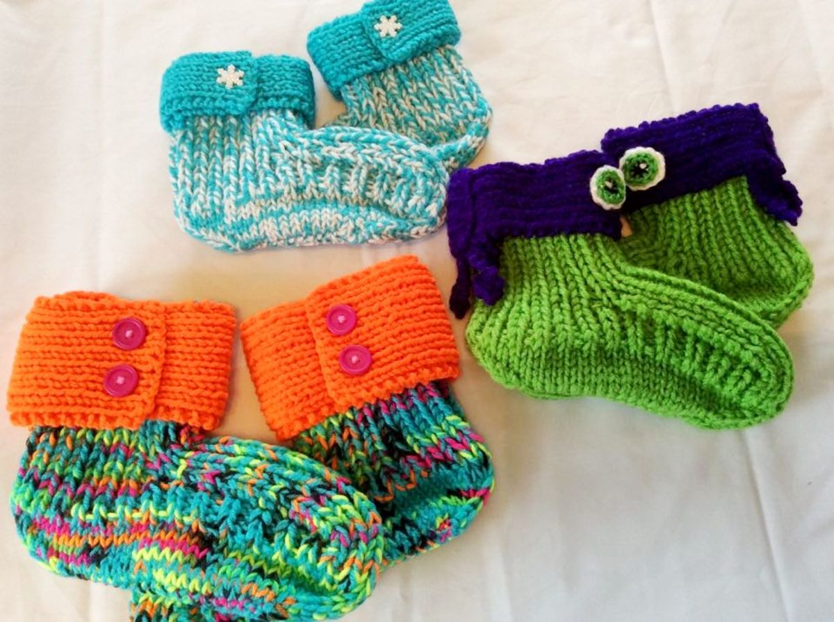 Knitted Slippers, Courtesy Eleanor Beaton