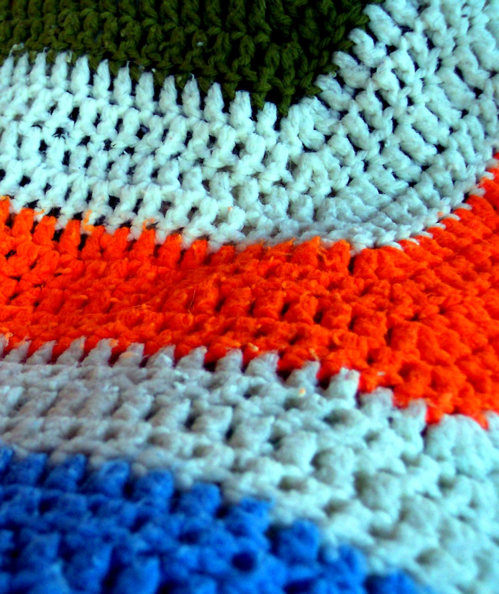 Tall crochet stitches make afghan making a snap.