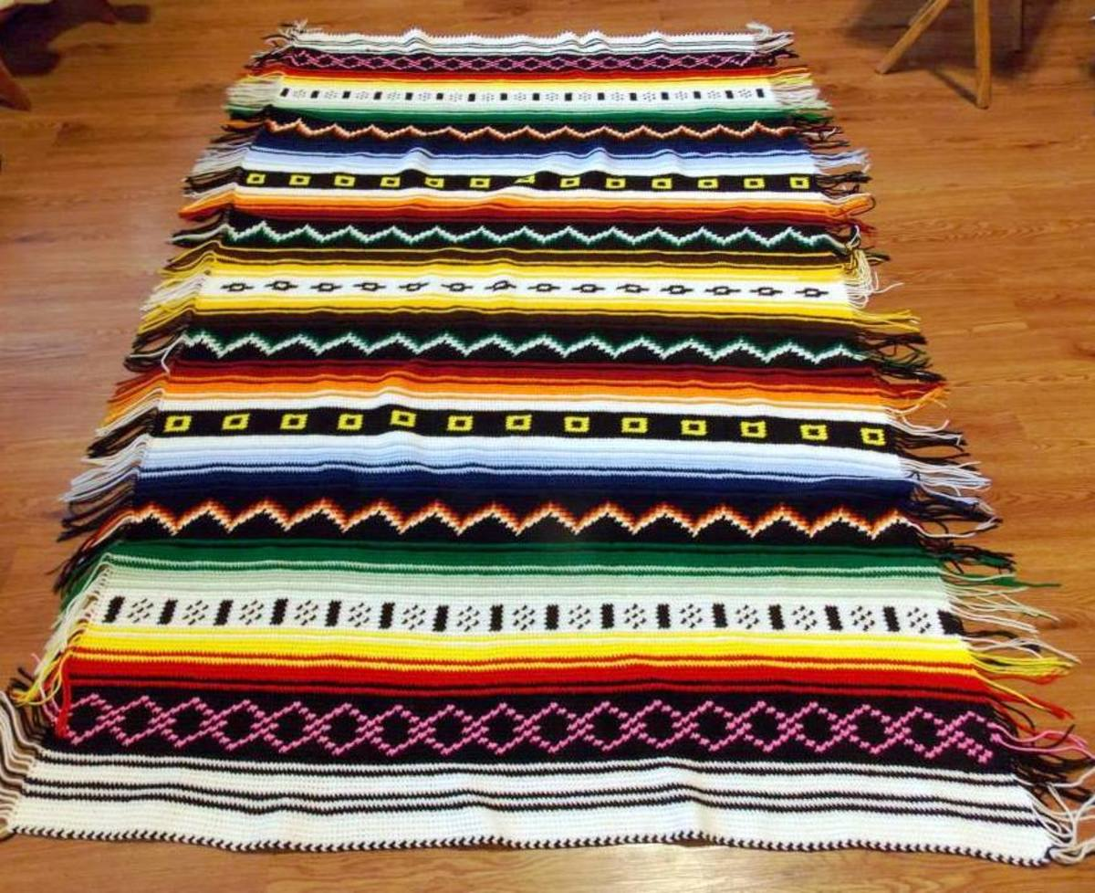 Lovely Patterned Afghan