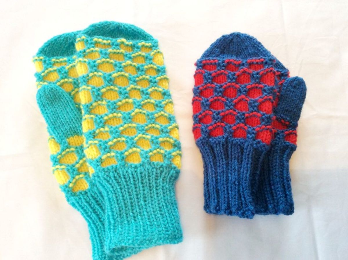 Knitted Mittens, Courtesy Eleanor Beaton