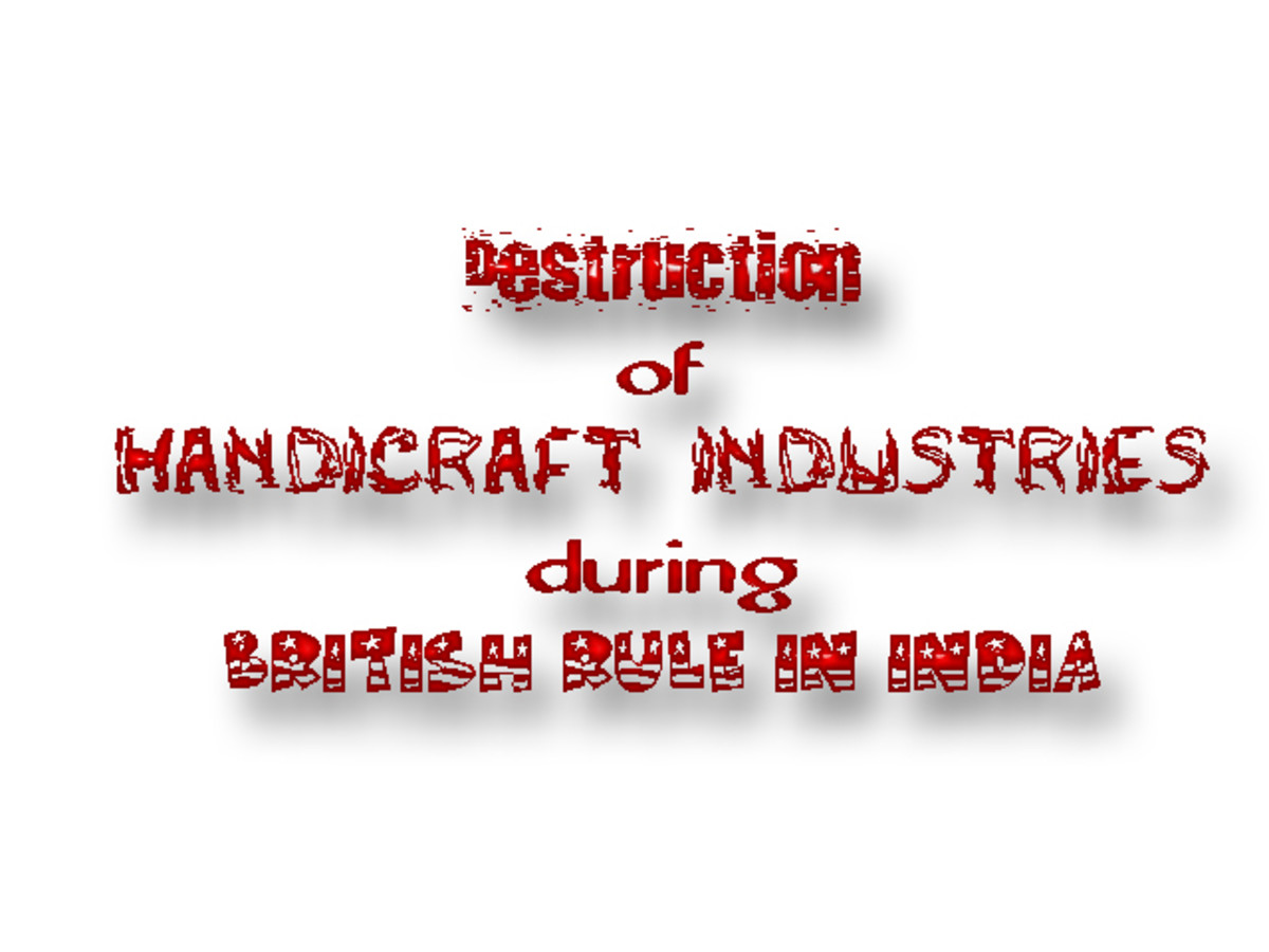 Destruction of Handicraft Industries during British Rule in India