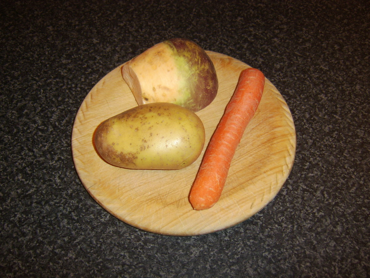 Root vegetables for beef stew