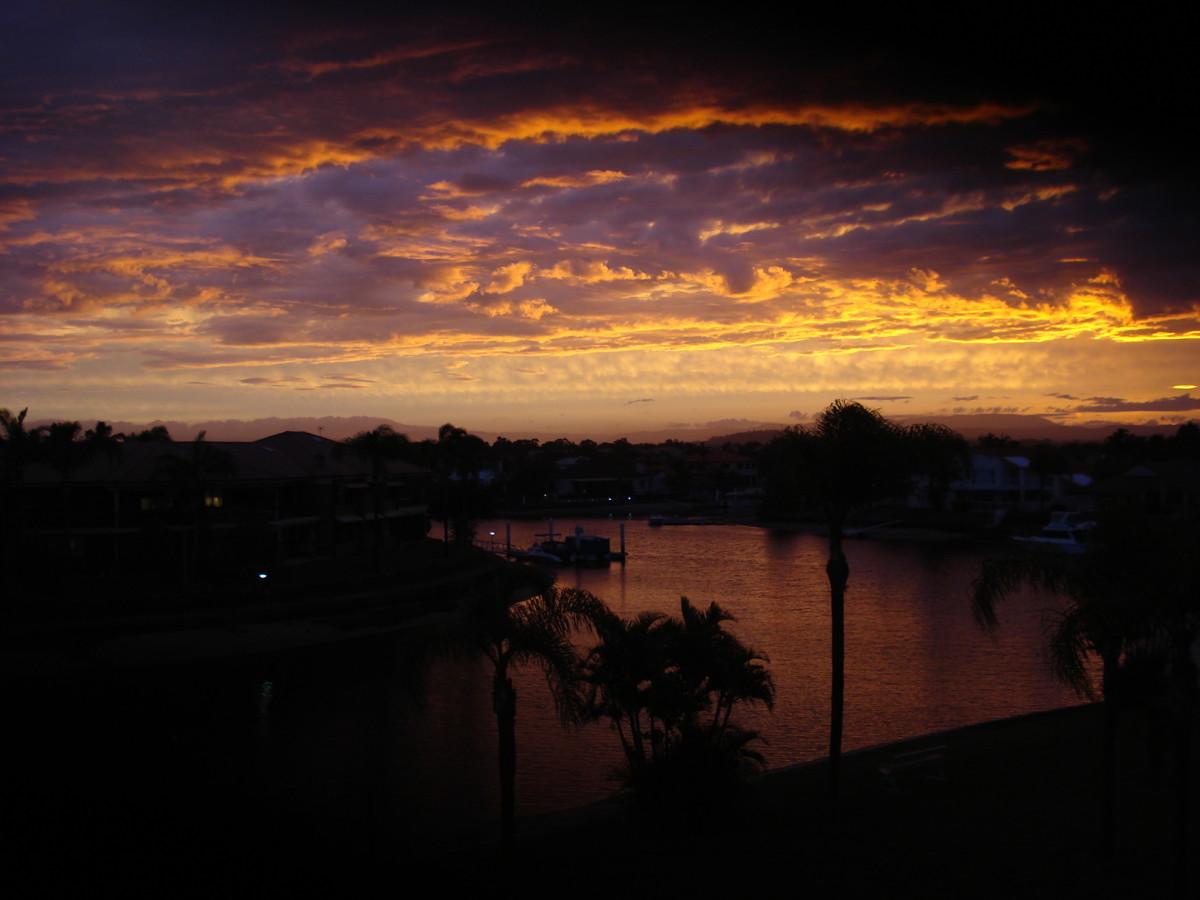 Sunset in Runaway Bay, Gold Coast, Queensland