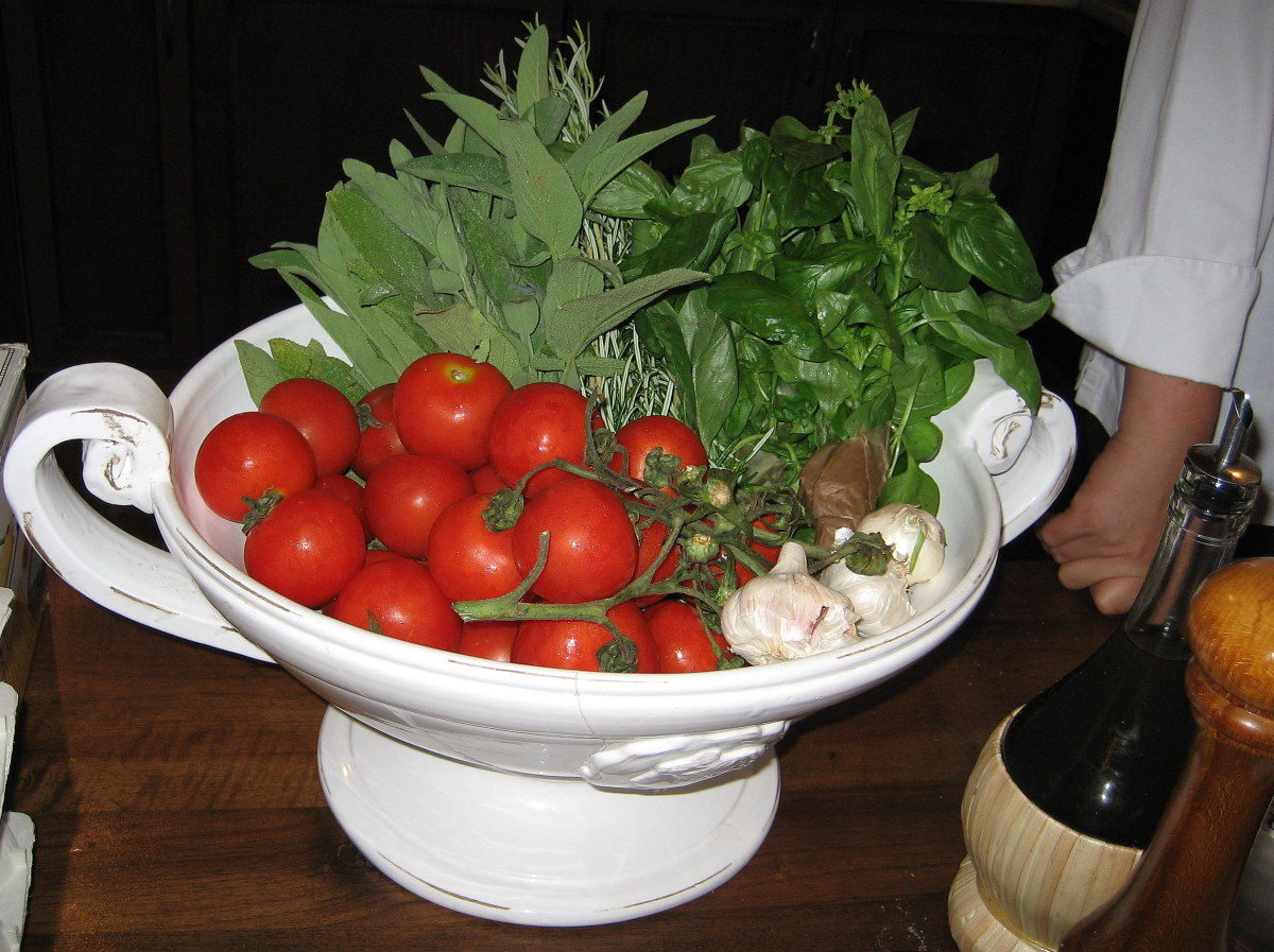 Chef Giuseppina stresses the importance of using only the freshest ingredients