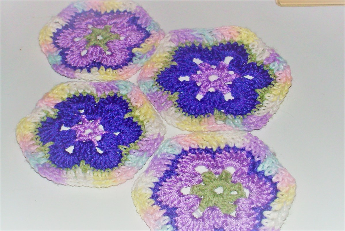 African Flower Hexagon Crochet Pattern and Video