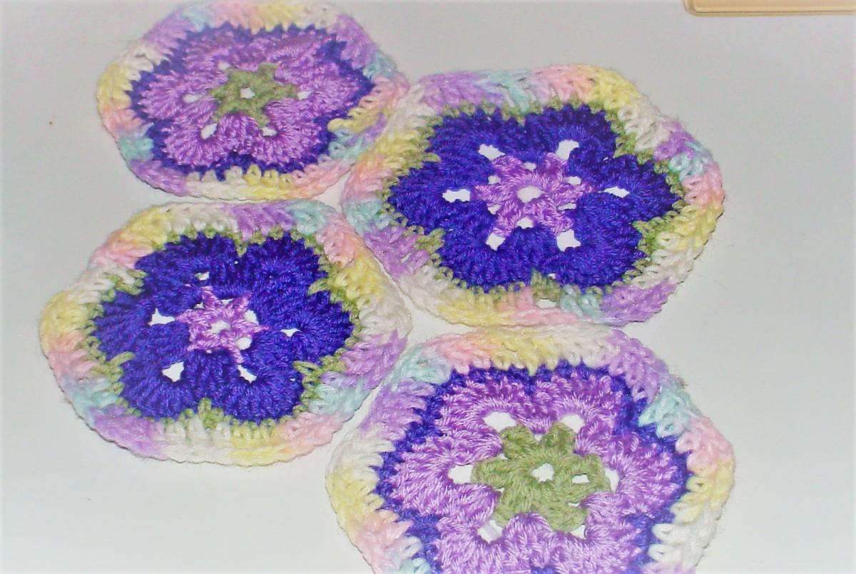 Crochet African Flower Hexagons