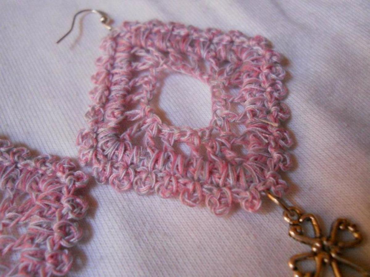 Crochet Diamond Earring #3