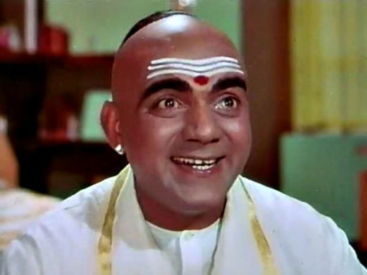 Legendary actor Mehmood in the movie Padosan.