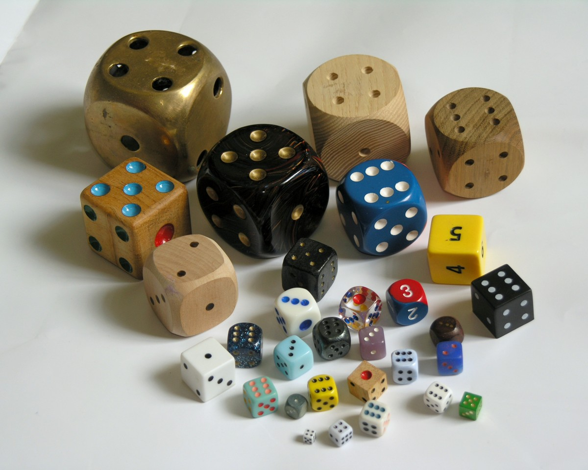 This is just a small example of the variety of dice out there to collect.