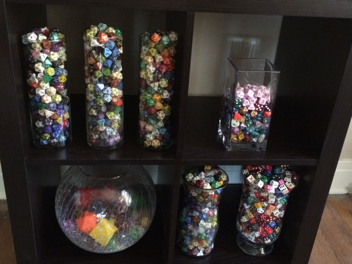 Displaying dice in the appropriate container can make or break a collection.