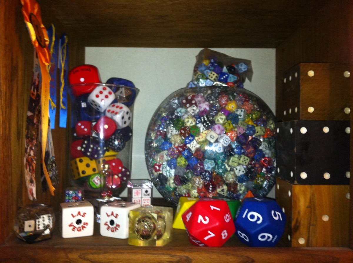 The beginnings of a dice collection.