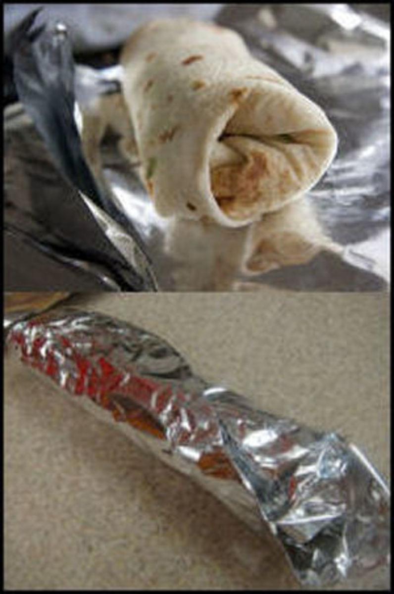 Foil-wrapped Campfire Dessert Burritos