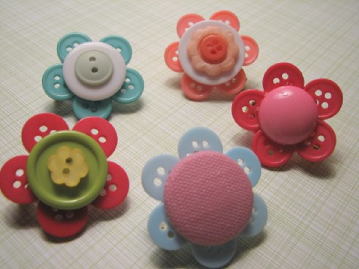 Super Cute Button Crafts Tutorial Round-Up