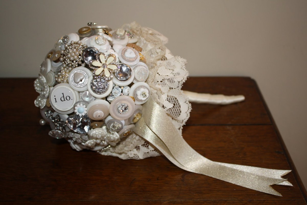 Button Wedding Bouquet