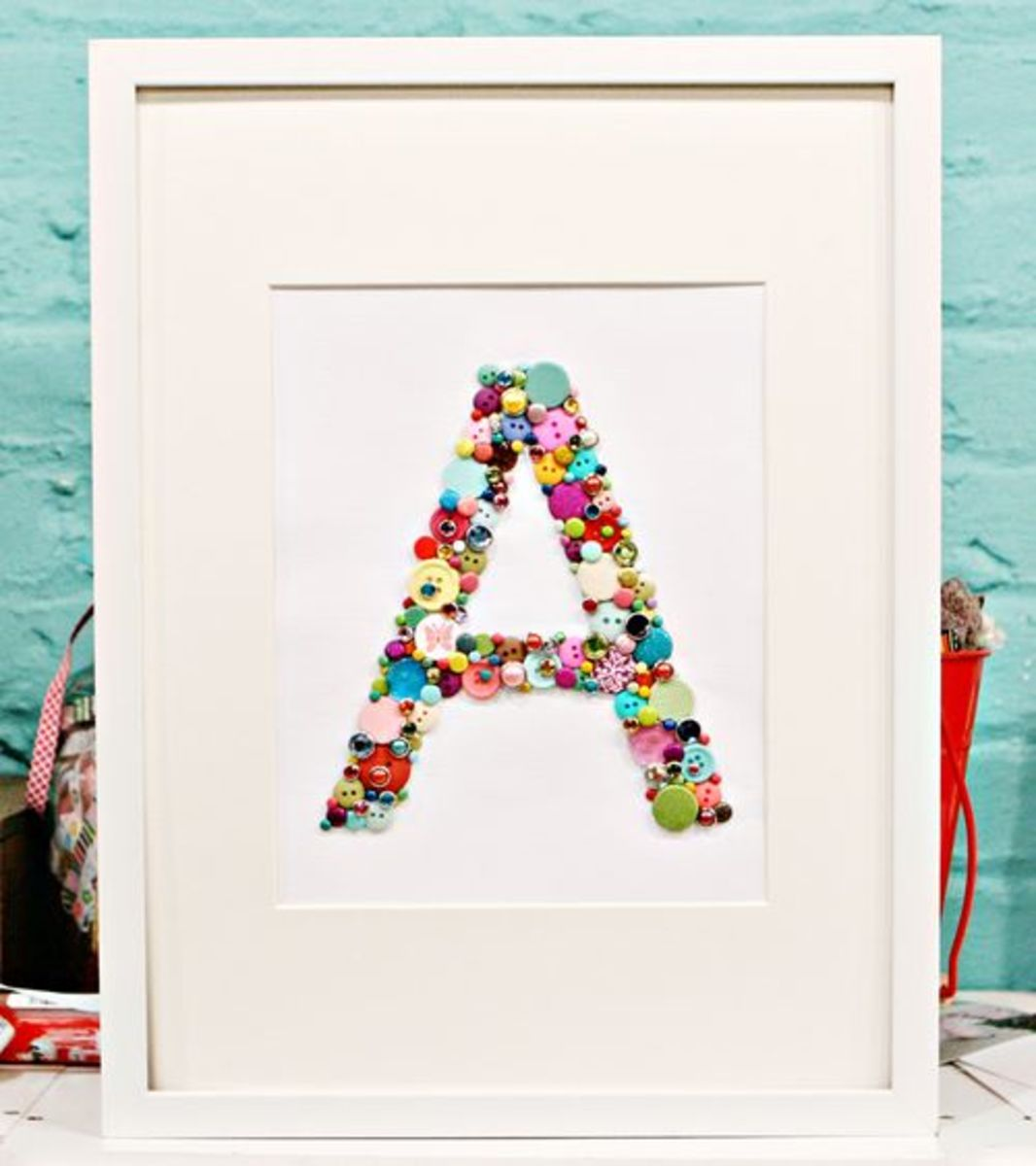Framed Buttons Monogram