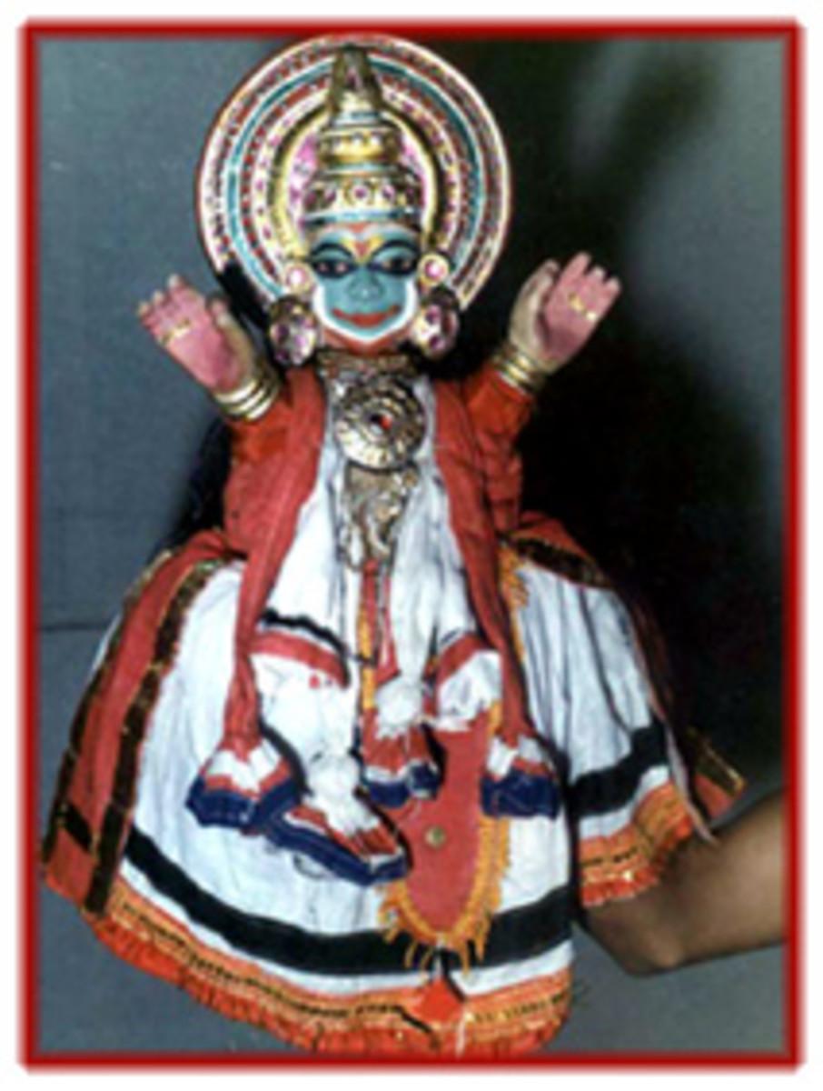 Glove puppet of Kerala
