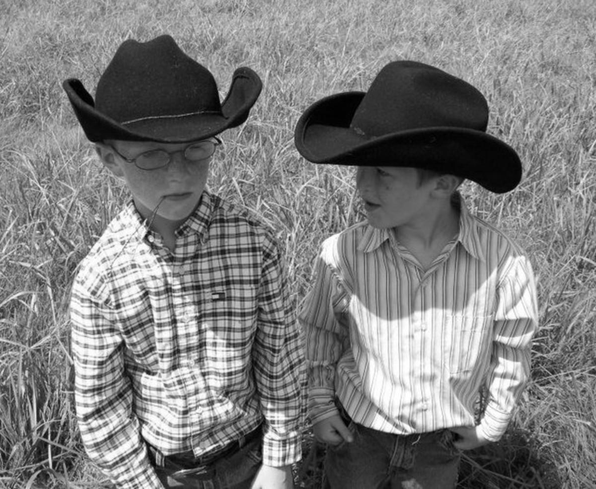 My lil cowboys
