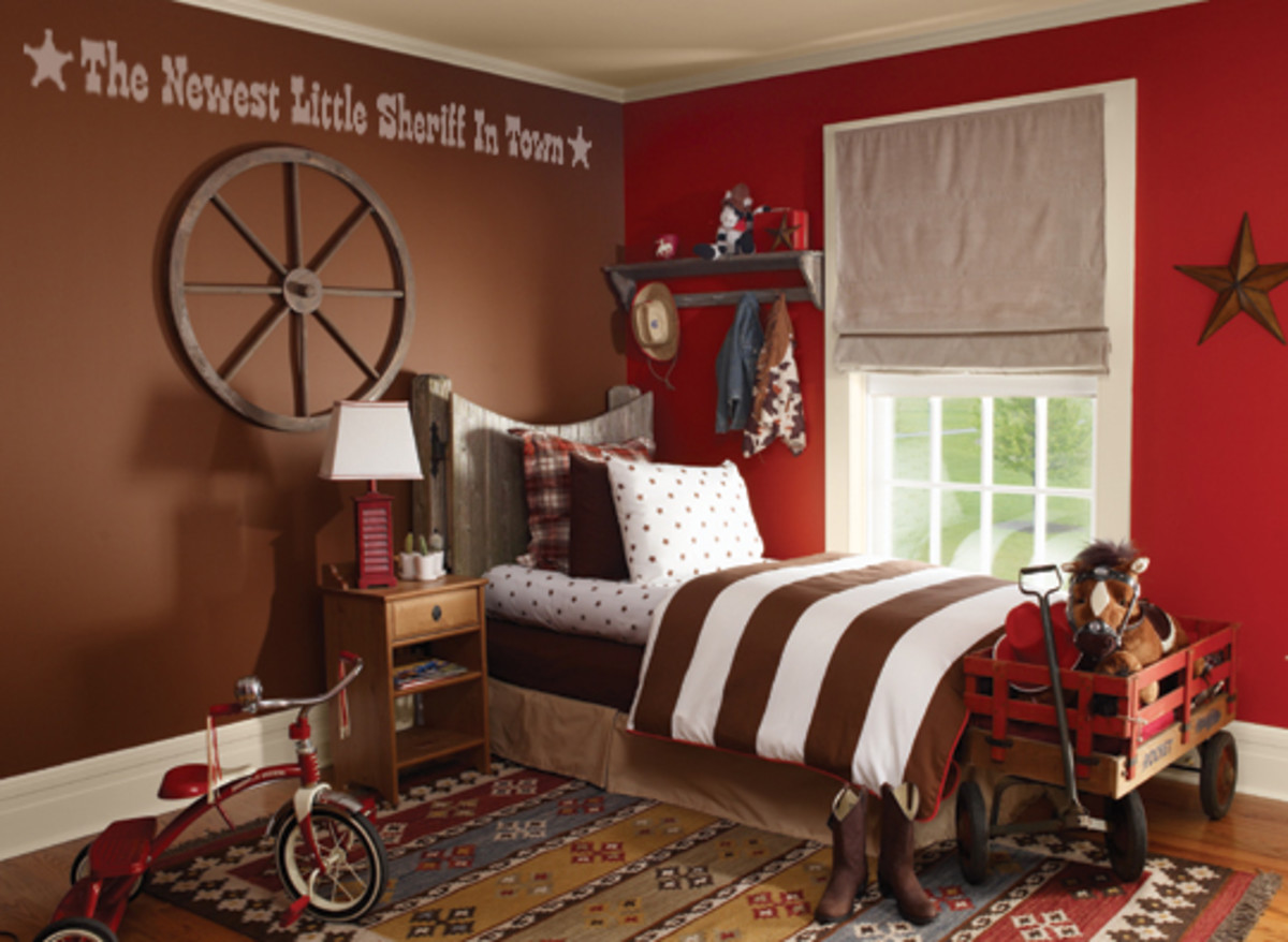 decorating a cowboy western boys bedroom ideas