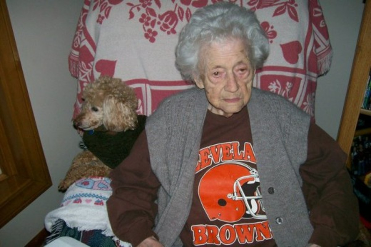 This is my Gram ~ she lived to be almost 103 years old.  Source:  Sharyn's Slant