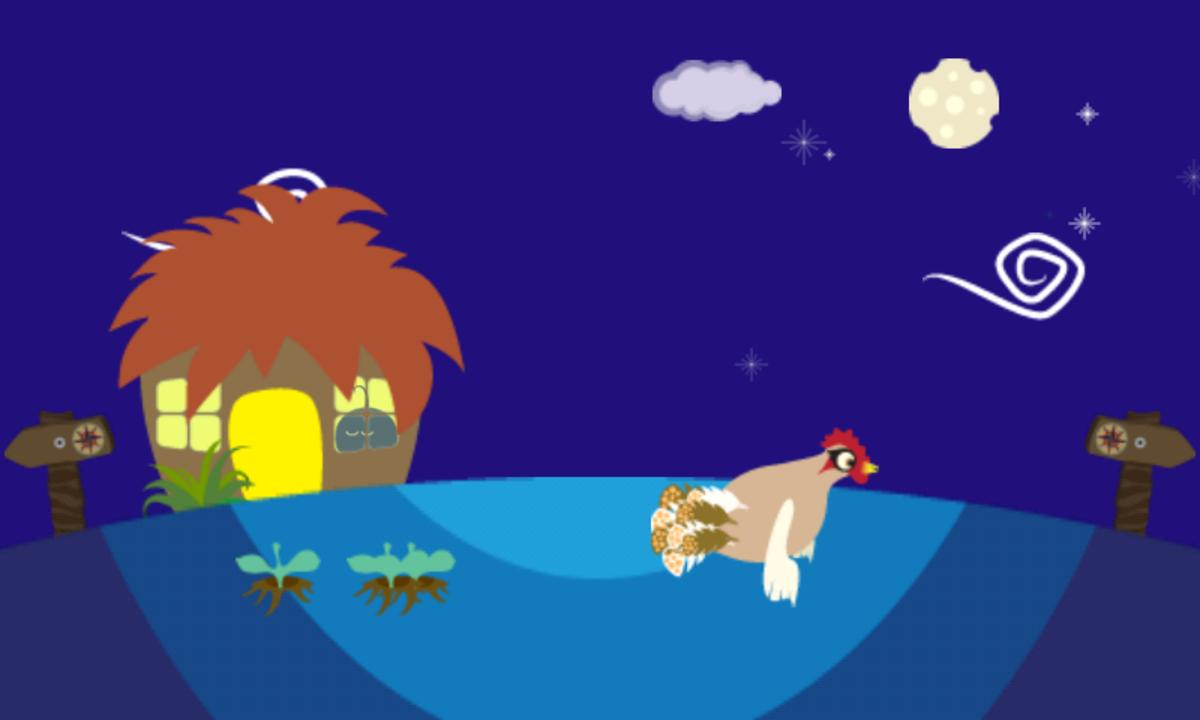 Chicken Mama Flies about Furdi Sleeps.