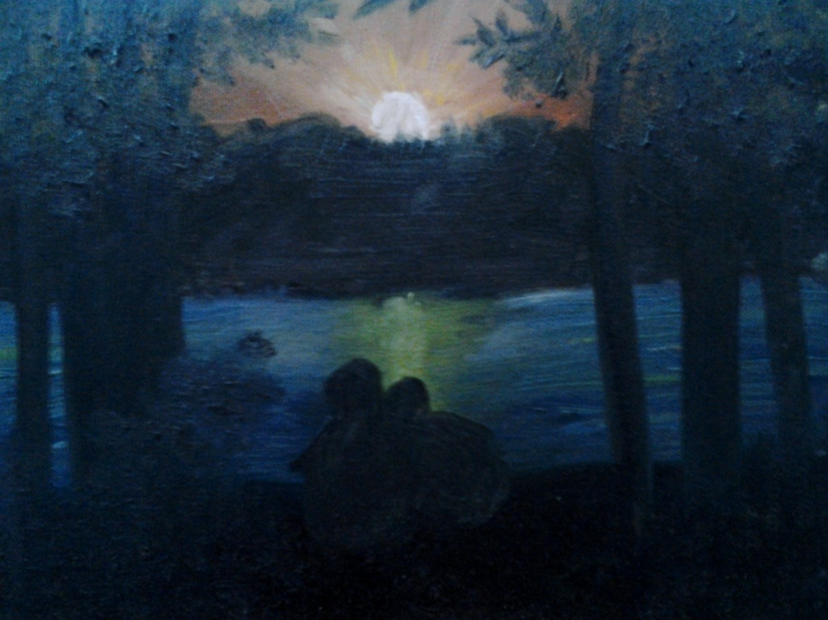 A painting by my husband when we were first dating