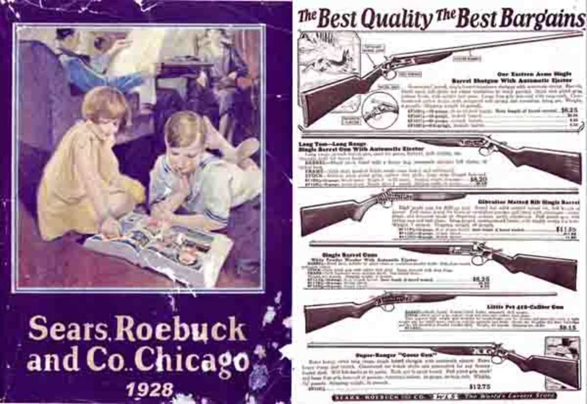 1928 Sears catalog, they used to sell guns through the catalog!