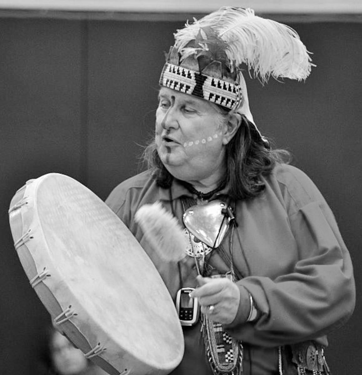 Shawnee storyteller Neeake.