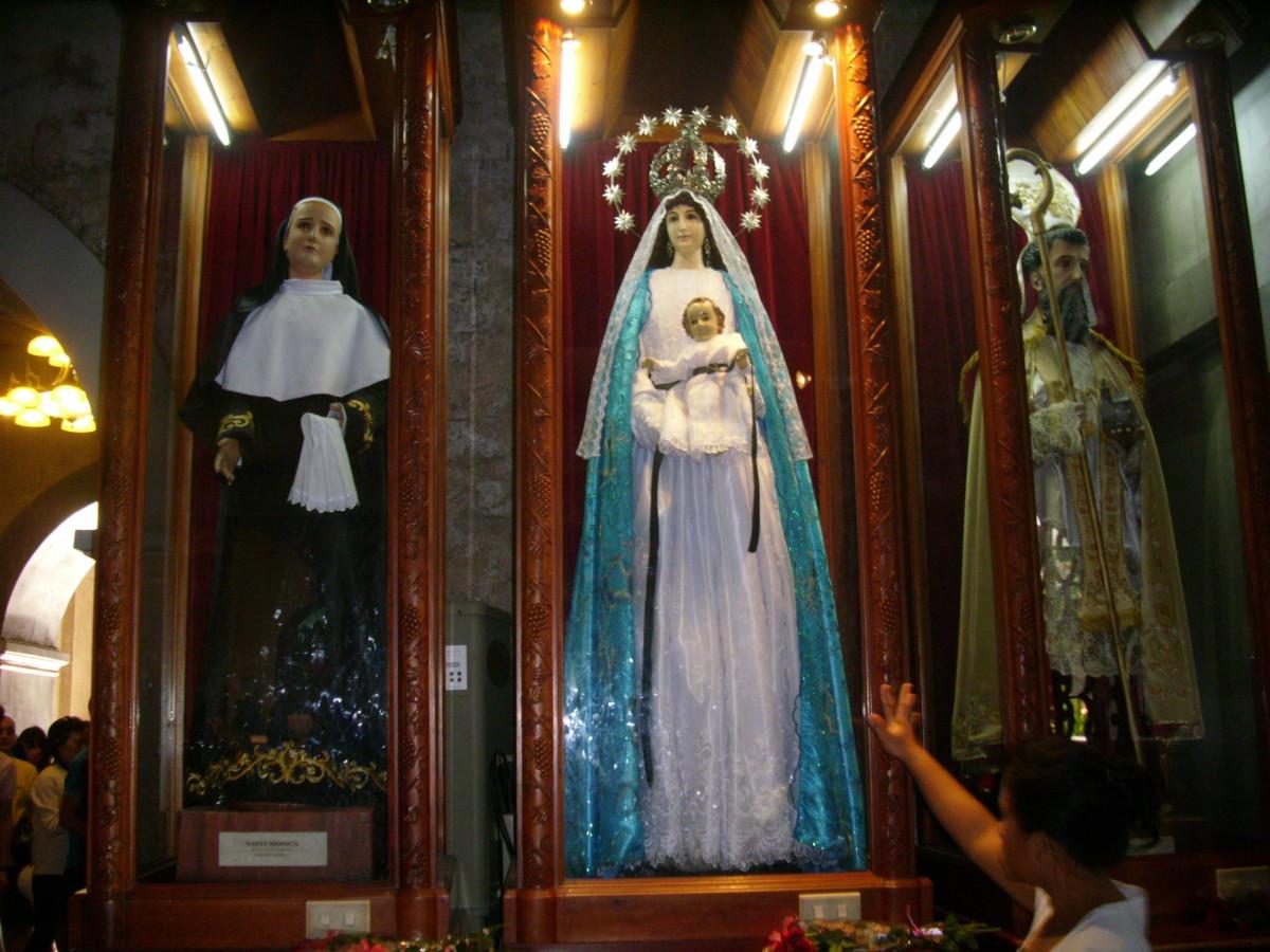 One of the altar in the Basilica del Santo Nino, Cebu City, Philippines