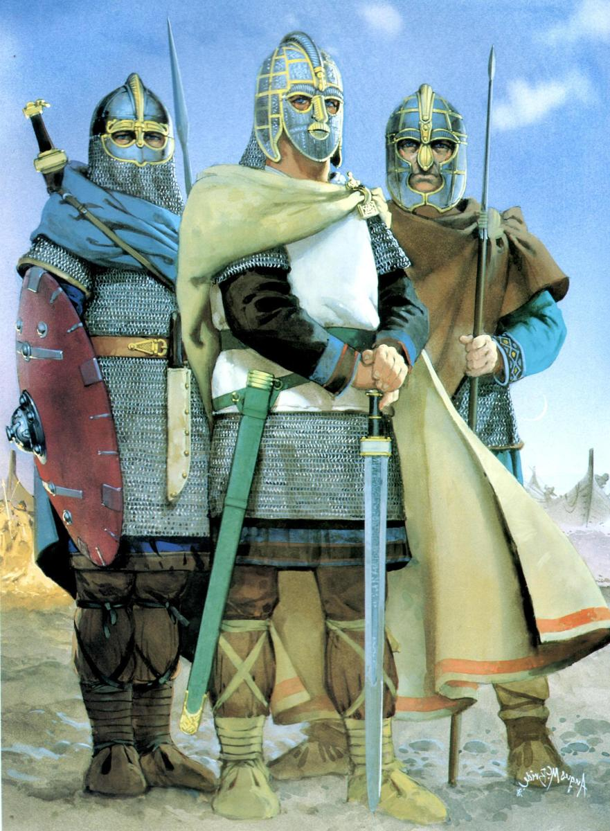 Early Anglian warriors - some of these northern European migrants might have been 'foederati' during the latter part of Roman occupation of Britain