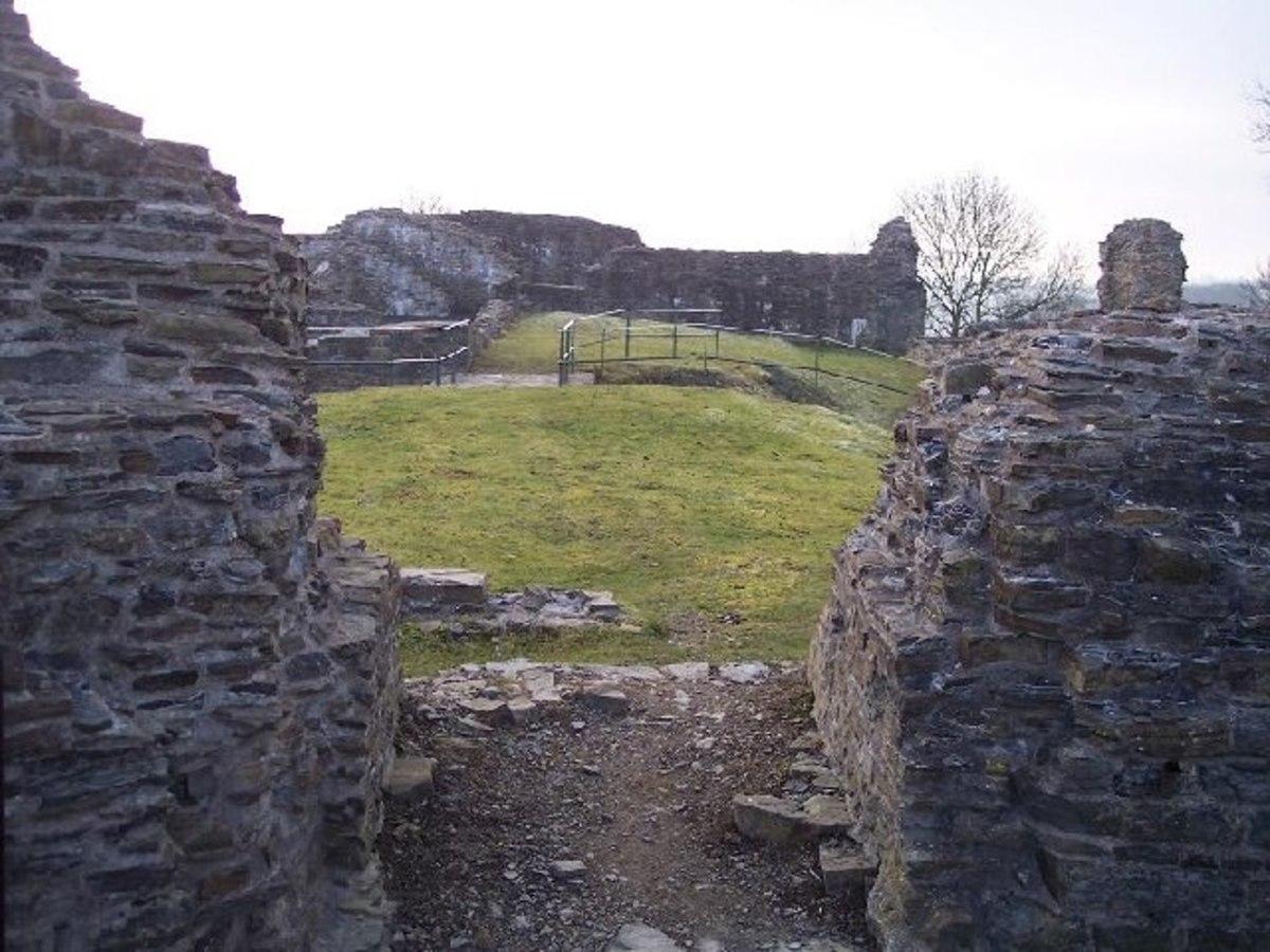 The ruins of Dolforwyn Castle