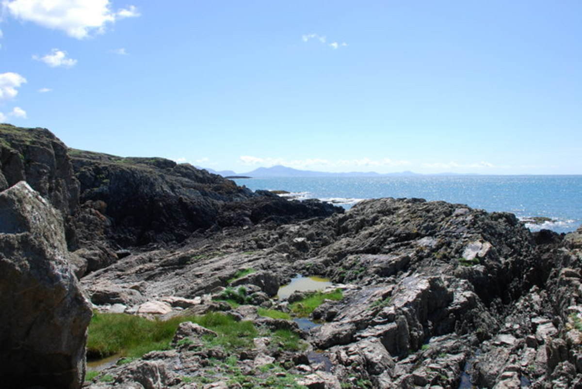 The Rocky Coastline of Anglesey.