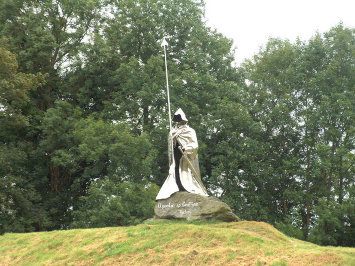 No recorded of Llywelyn's likeness remains. All that remains is this monument.