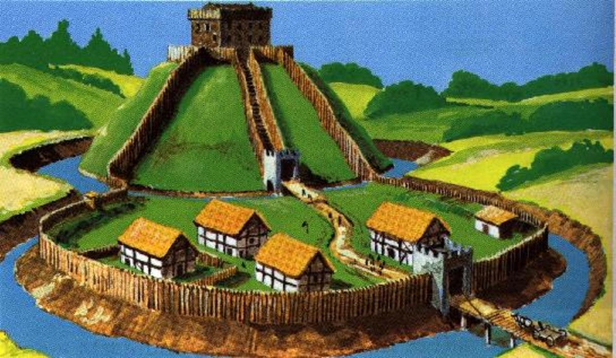 The Normans used Motte and Bailey Forts to impose order on the Welsh.