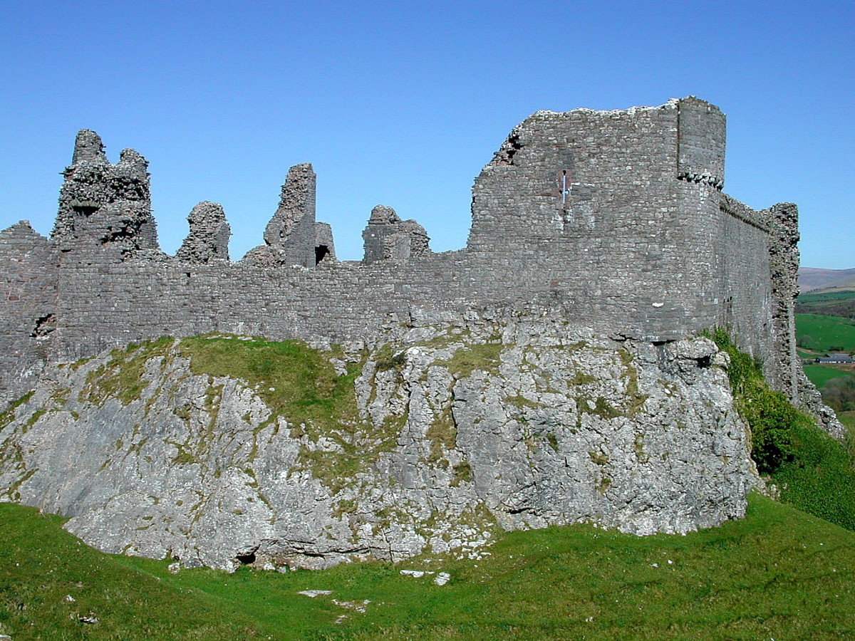 The Remnants of Carregcennen Castle
