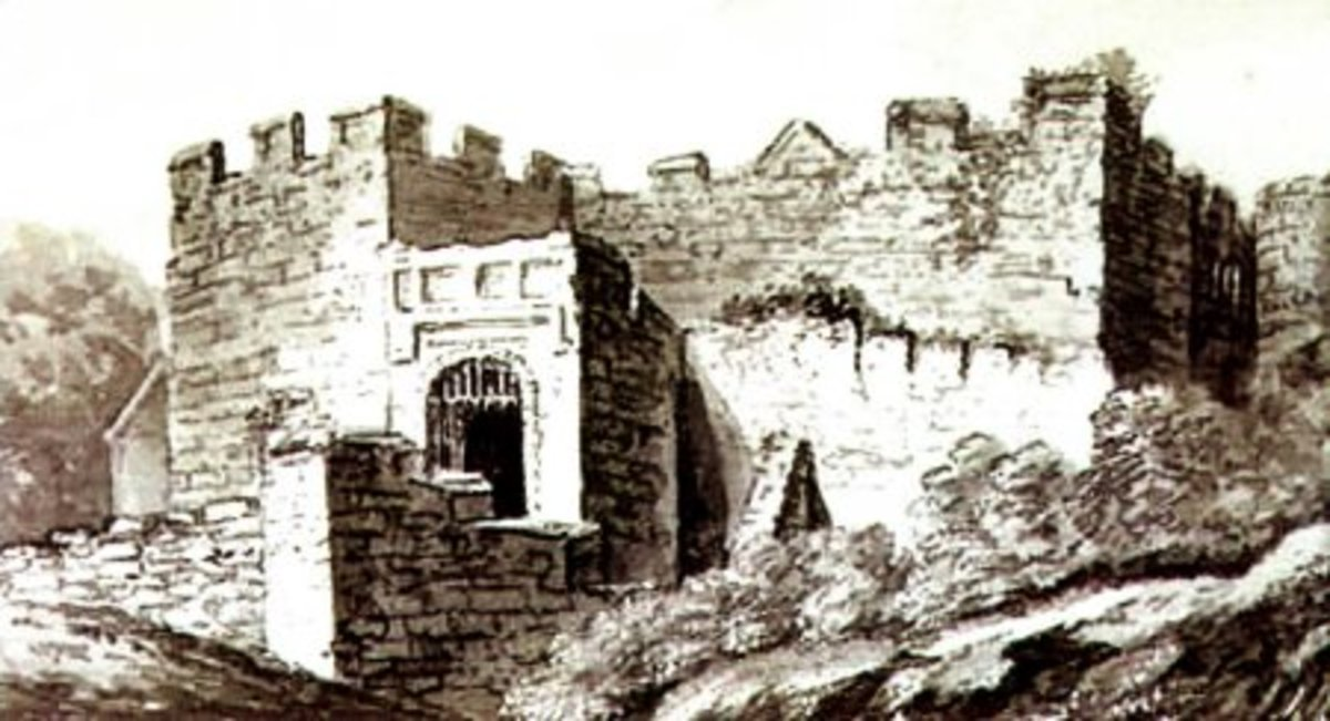 An Artists impression of Oswestry Castle