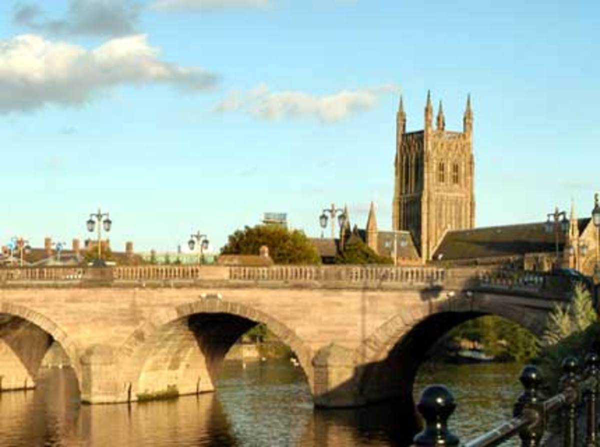 Worcester, the English City where Edward assembled his army.