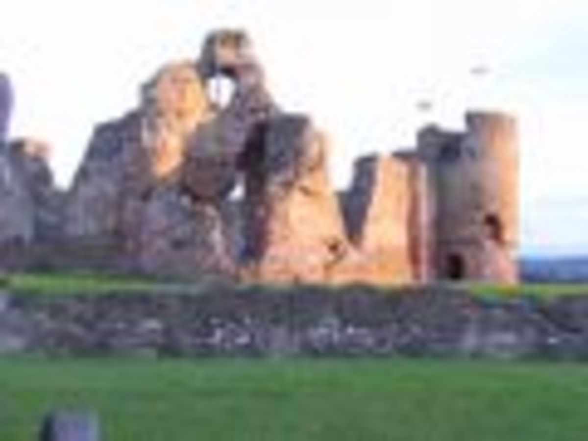 Rhuddian Castle, one of many Castles constructed by order of Edward.