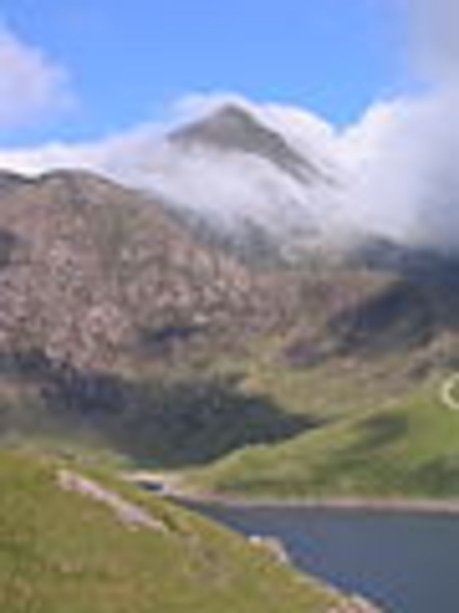 Mount Snowdon, the tallest Mountain in Wales, standing at 3560 Feet.