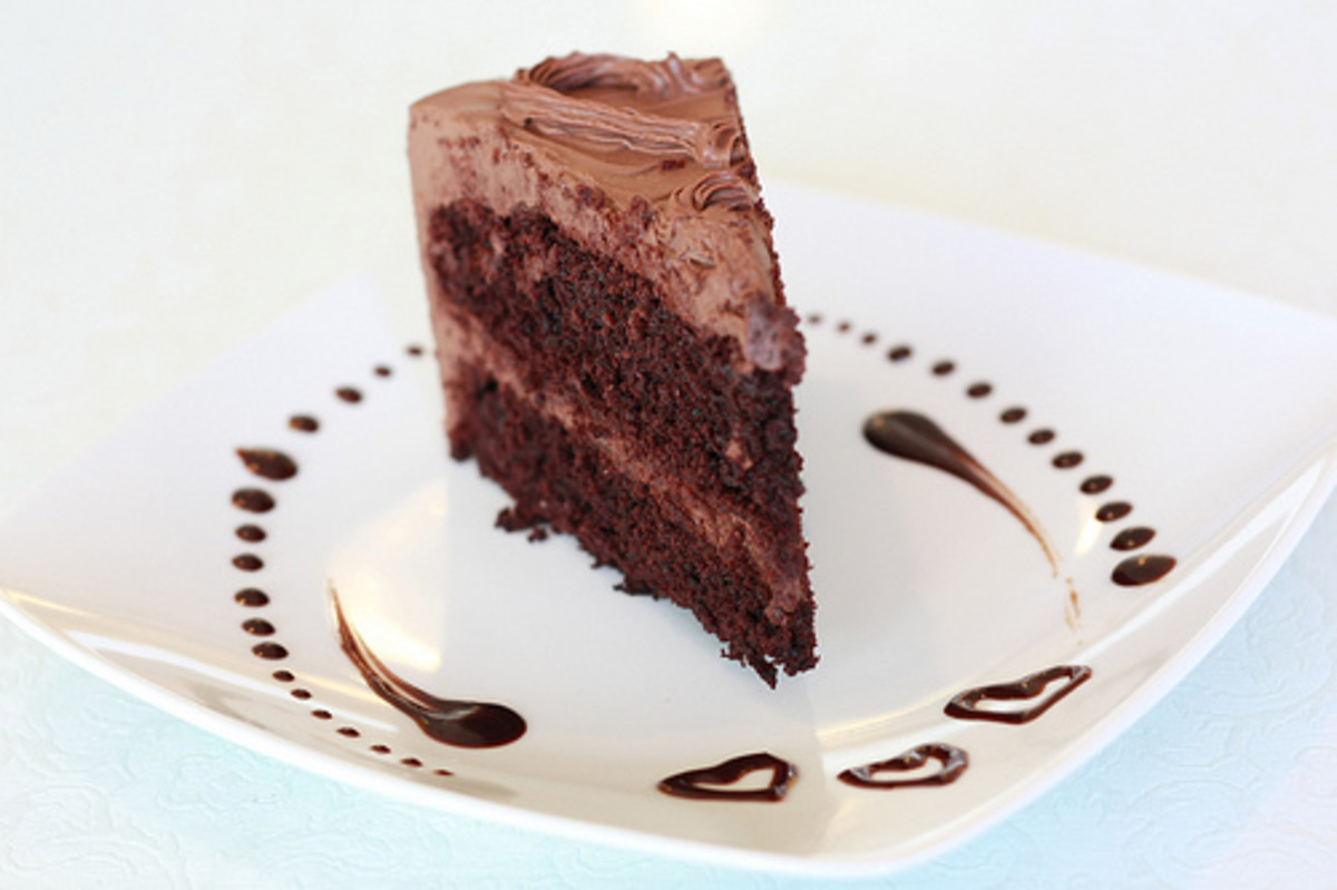The perfect chocolate cake gives you the freedom to frost and decorate it any way you please. This cake is no exception.