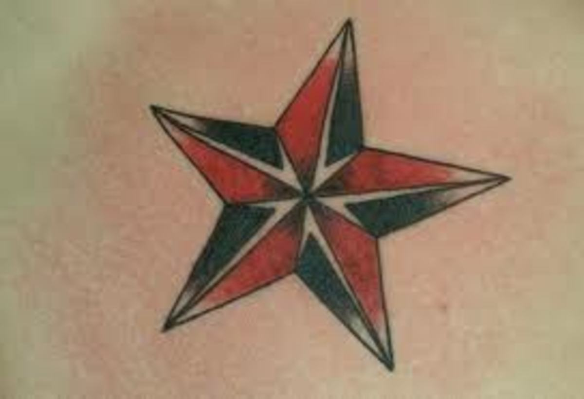 Nautical Star Tattoos And Meanings-Nautical Star Tattoo Designs And ...