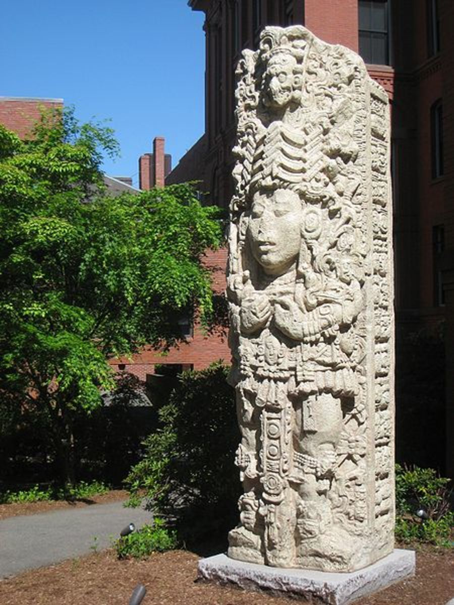 This is from the Classic Era.  A Maya Stela replica, from the ruins of Copan.  Located at Harvard University.