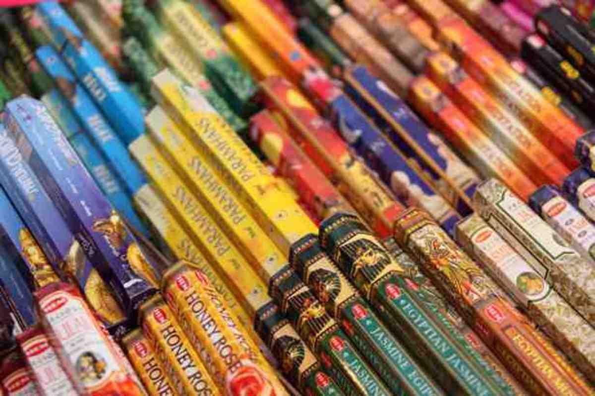 Colorful Joss Sticks Public Domain Photo