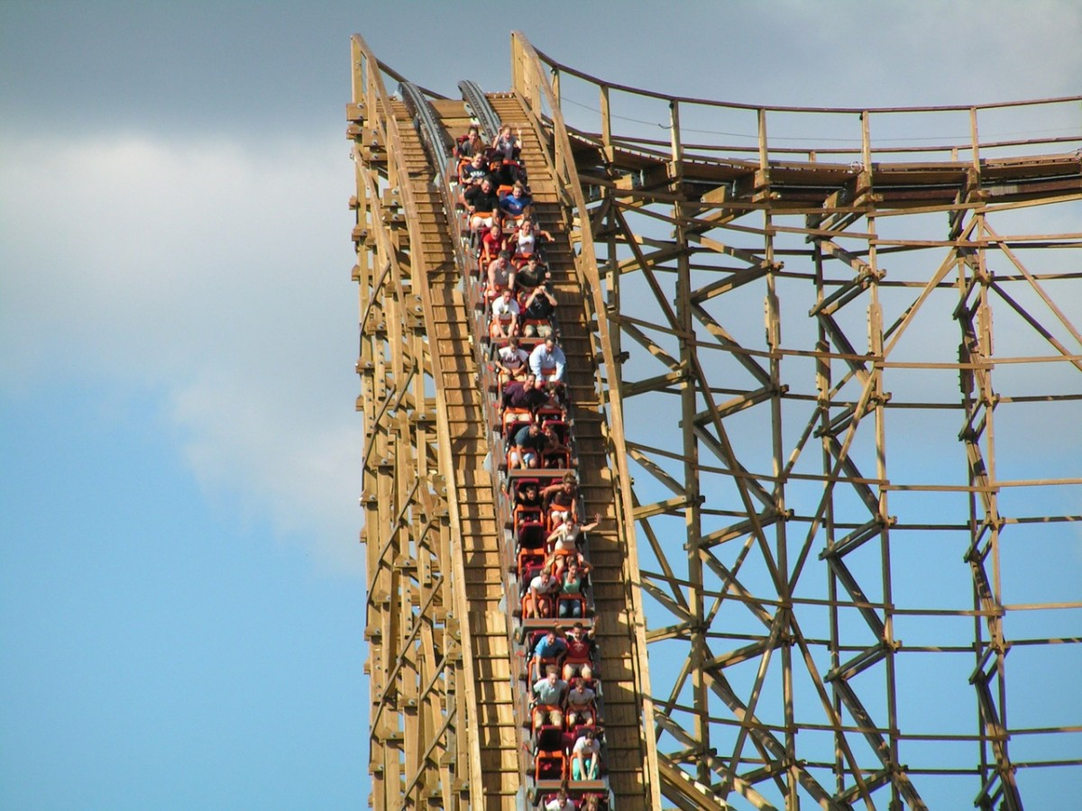 The old wooden roller coasters are mostly a thing of the past