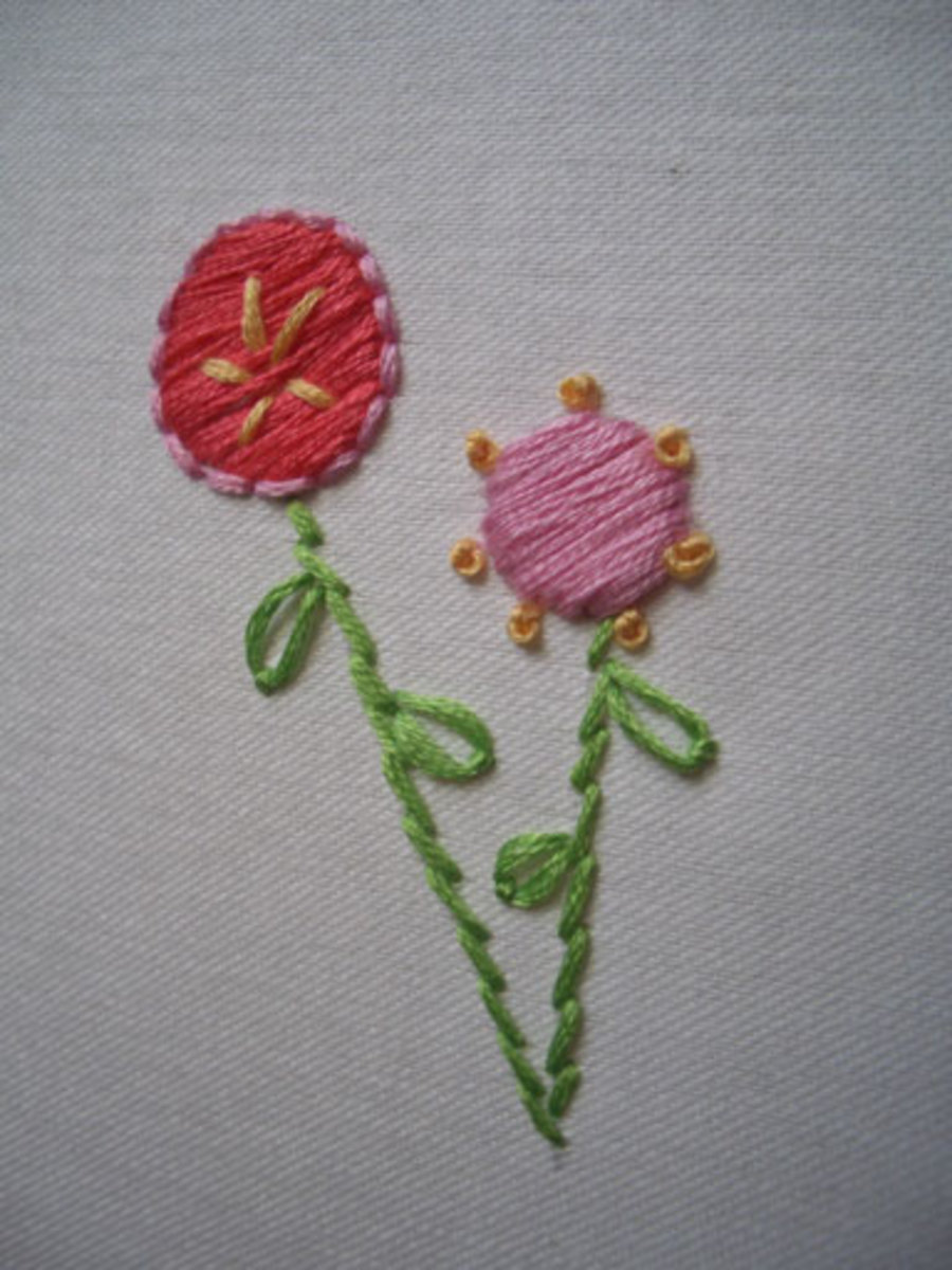 types of embroidery stitch
