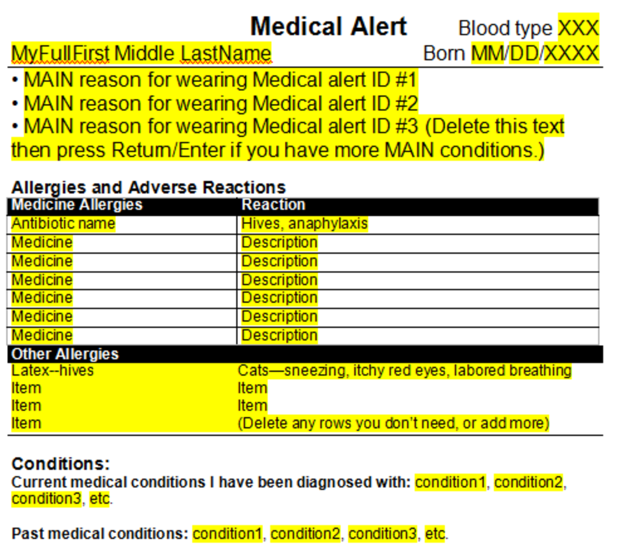 Save Your Life Wear The Medical Alert Symbol And Keep